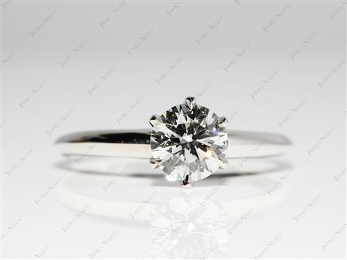 Platinum 1.02 Round cut Diamond Rings