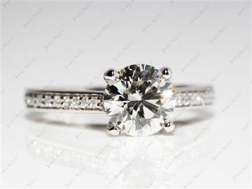 Platinum  Engagement Rings Pave