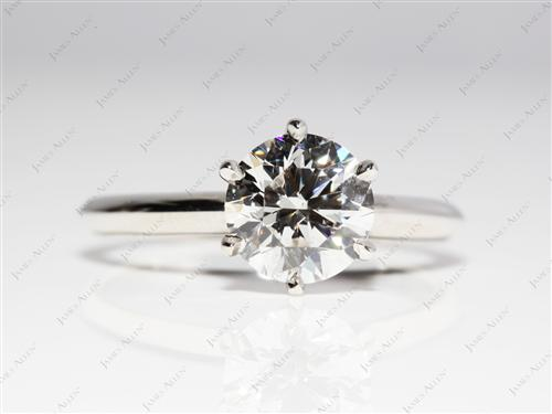 Platinum 1.80 Round cut Diamond Solitaire Ring Settings