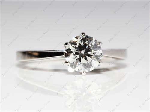 Platinum 1.17 Round cut Round Solitaire Ring