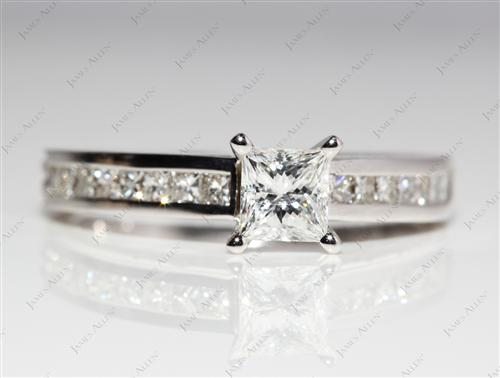 White Gold  Bridal Wedding Ring Sets