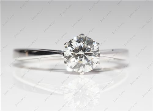 White Gold 0.90 Round cut Solitaire Diamond Rings