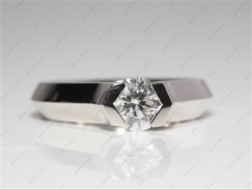 Platinum 0.71 Round cut Tension Diamond Rings