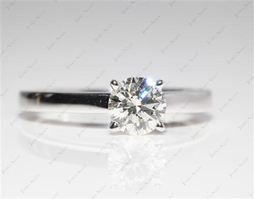 White Gold 0.81 Round cut Solitaire Ring Mountings