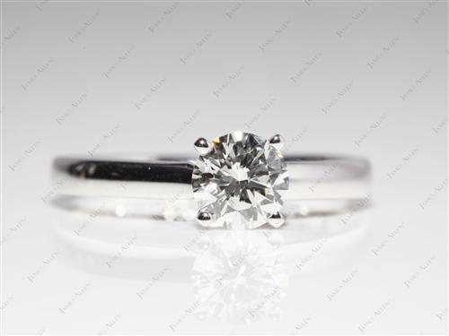 Platinum 1.59 Asscher cut Solitaire Ring Designs