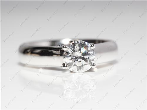 White Gold 0.85 Round cut Diamond Solitaire Ring Settings