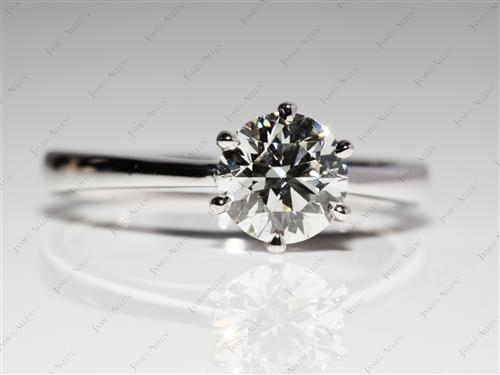 White Gold 1.09 Round cut Solitaire Ring Mountings