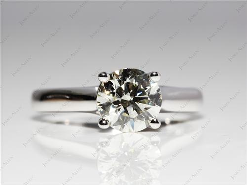 White Gold 1.41 Round cut Round Solitaire Ring