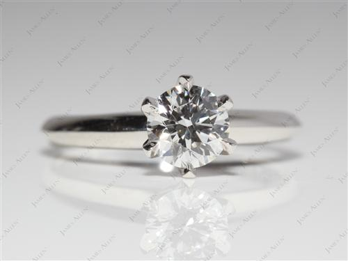 Platinum 0.73 Round cut Solitaire Ring Designs