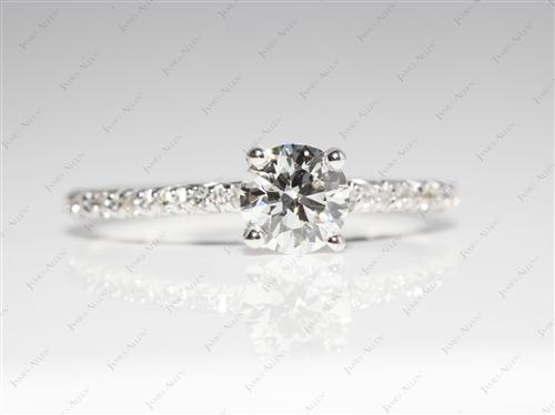 White Gold 0.62 Round cut Bridal Wedding Sets