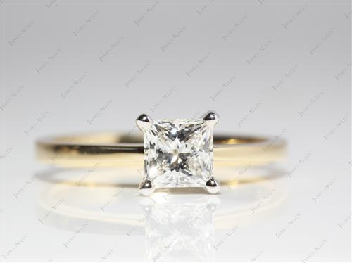 Gold 1.02 Princess cut Solitaire Ring Designs