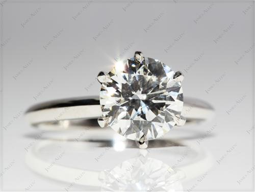 Platinum 2.06 Round cut Solitaire Ring