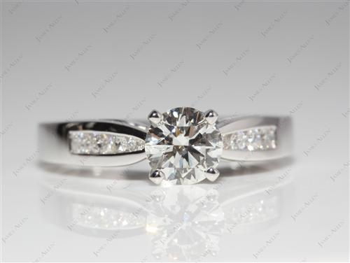 White Gold 0.81 Round cut Diamond Channel Rings