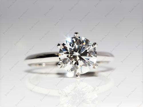 Platinum 2.03 Round cut Diamond Solitaire Ring Settings