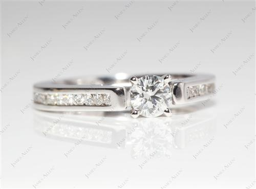 White Gold 0.31 Round cut Channel Rings