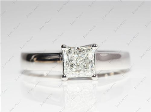 Platinum 1.01 Princess cut Solitaire Ring Designs