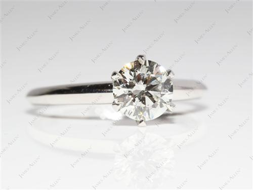 Platinum 1.11 Round cut Round Solitaire Ring
