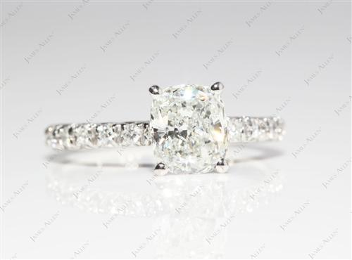 Platinum 1.26 Cushion cut Diamond Ring
