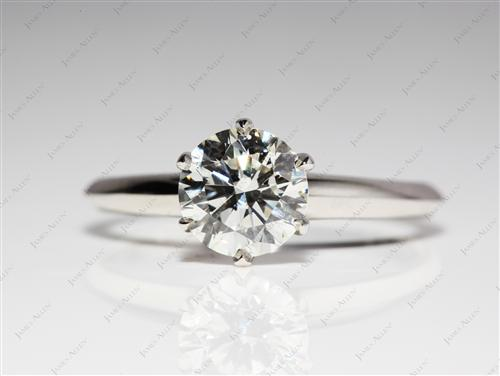 Platinum 1.32 Round cut Diamond Rings