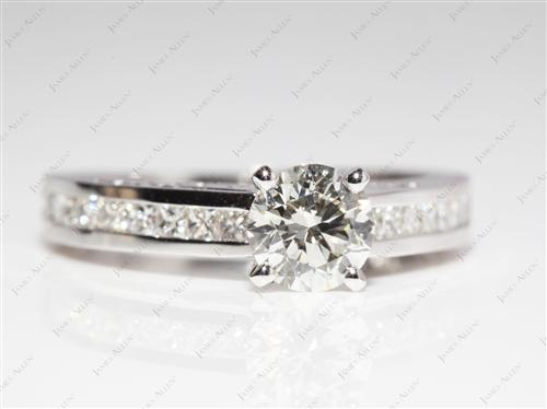 White Gold 0.90 Round cut Matching Wedding Sets