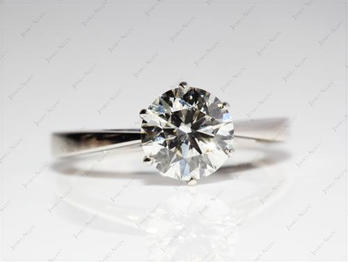 Platinum 1.70 Round cut Solitaire Ring Setting