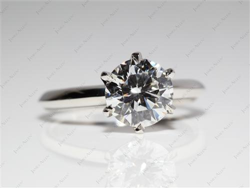 Platinum 1.48 Round cut Diamond Solitaire Rings