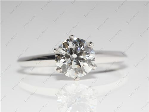 White Gold 1.17 Round cut Solitaire Ring Designs