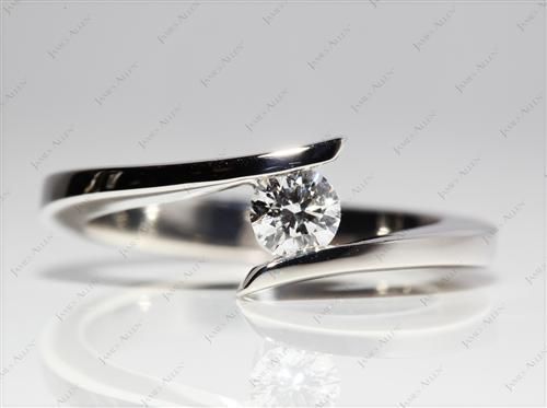 Platinum 0.30 Round cut Diamond Solitaire Rings
