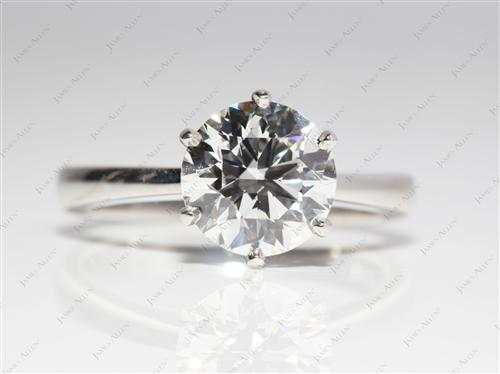Platinum 2.14 Round cut Solitaire Ring