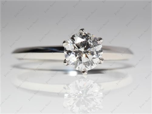 Platinum 1.03 Round cut Solitaire Ring