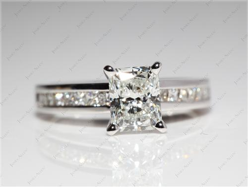 White Gold 1.28 Radiant cut Channel Set Diamond Band