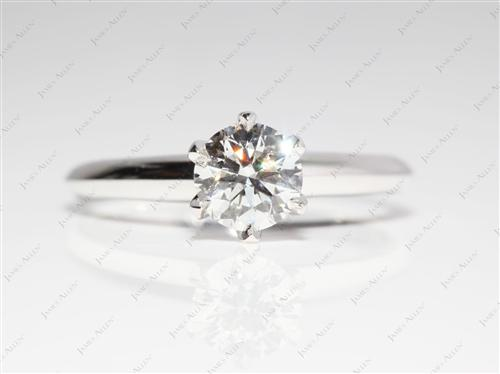 White Gold 0.72 Round cut Diamond Solitaire Engagement Ring