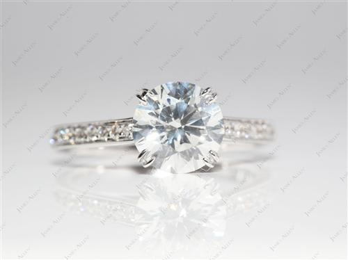White Gold 1.53 Round cut Diamond Rings