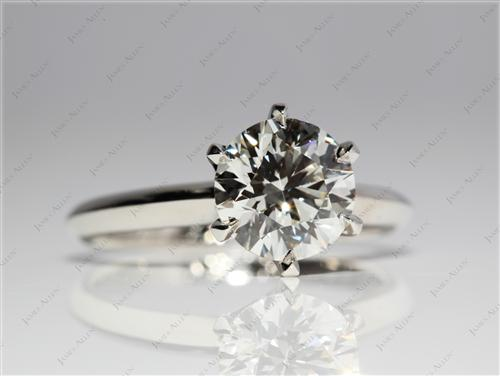 Platinum 1.55 Round cut Solitaire Ring Mountings