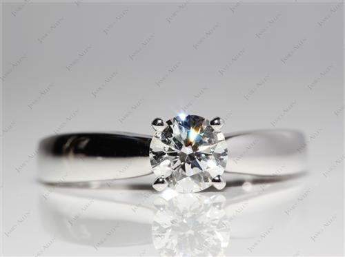 White Gold 0.81 Round cut Diamond Solitaire Ring Settings