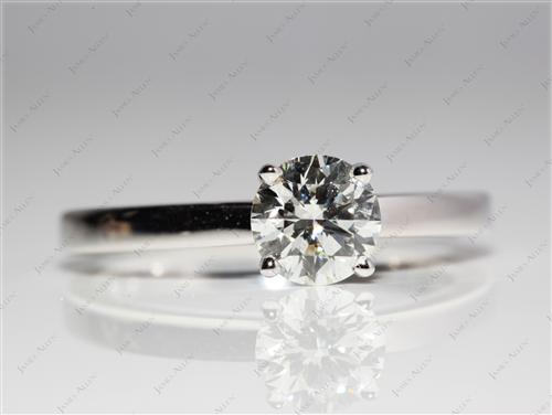 White Gold 1.01 Round cut Round Solitaire Ring