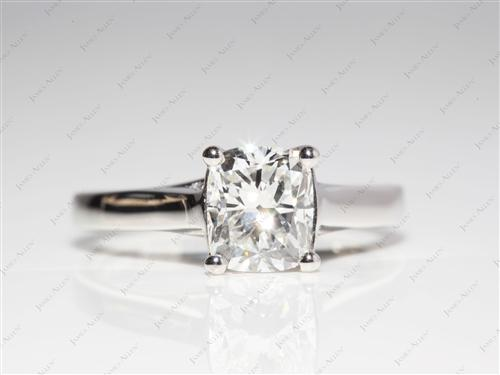 Platinum 1.52 Cushion cut Engagement Ring