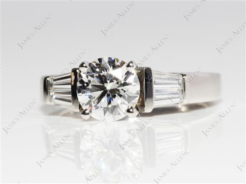 Platinum 1.19 Round cut Diamond Ring