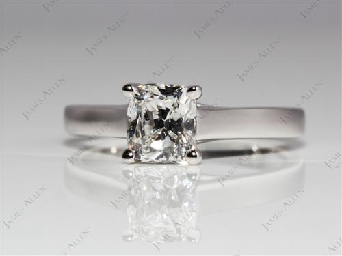 White Gold  Solitaire Ring Mountings