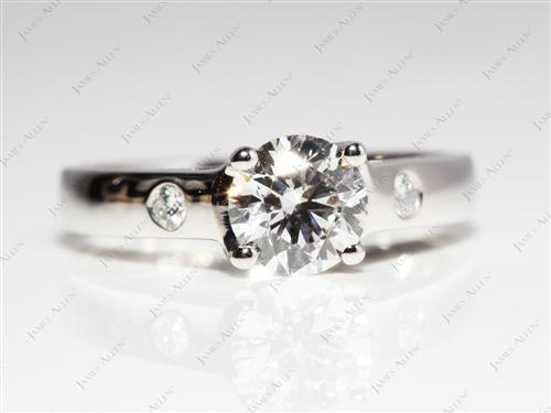 Platinum 0.80 Round cut Solitaire Ring Mountings