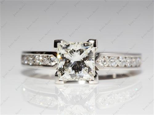 Platinum 2.01 Princess cut Channel Diamond Ring