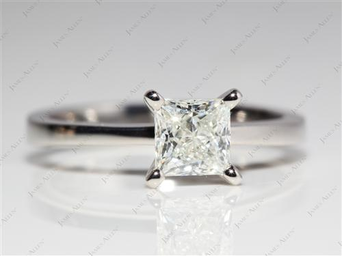 Platinum 1.01 Princess cut Solitaire Ring