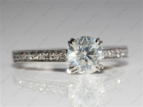 Platinum 1.01 Round cut Diamond Ring
