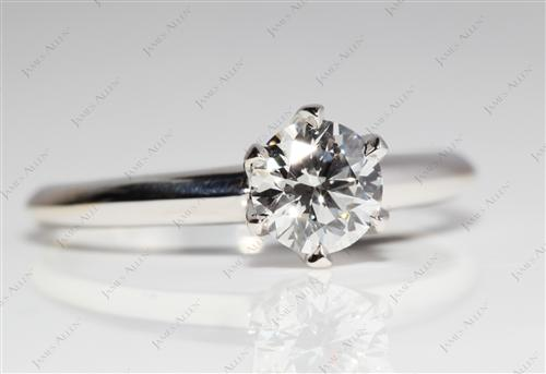 White Gold 0.62 Round cut Solitaire Engagement Rings