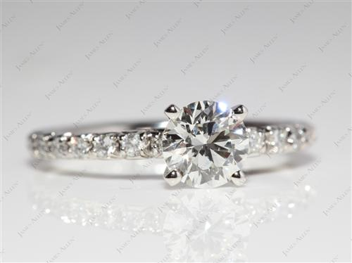 Platinum 0.91 Round cut Diamond Rings