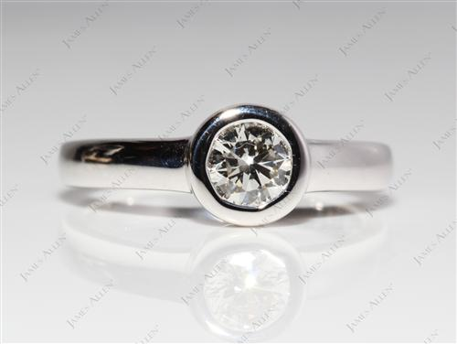 White Gold 0.72 Round cut Tension Diamond Engagement ring