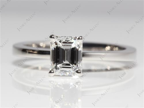 Platinum 1.02 Emerald cut Diamond Ring