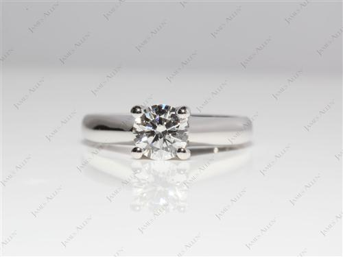 Platinum 0.70 Round cut Solitaire Engagement Rings