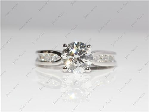 Platinum 1.44 Round cut Channel Cut Ring