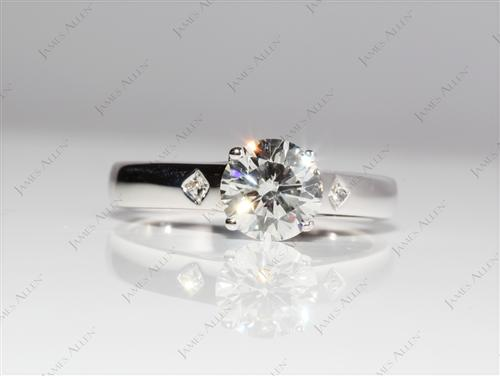 White Gold 1.13 Round cut Diamond Engagement Solitaire Rings